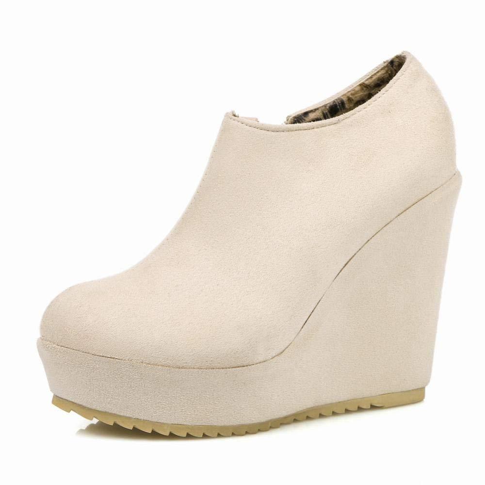 XZ Frauen Schuhe - Europa Und Amerika Herbst Herbst Herbst Und Winter Warme Mode Reißverschluss Stiefel Schwarz Niedrige Stiefel Stiefel 36-43 c09ff0