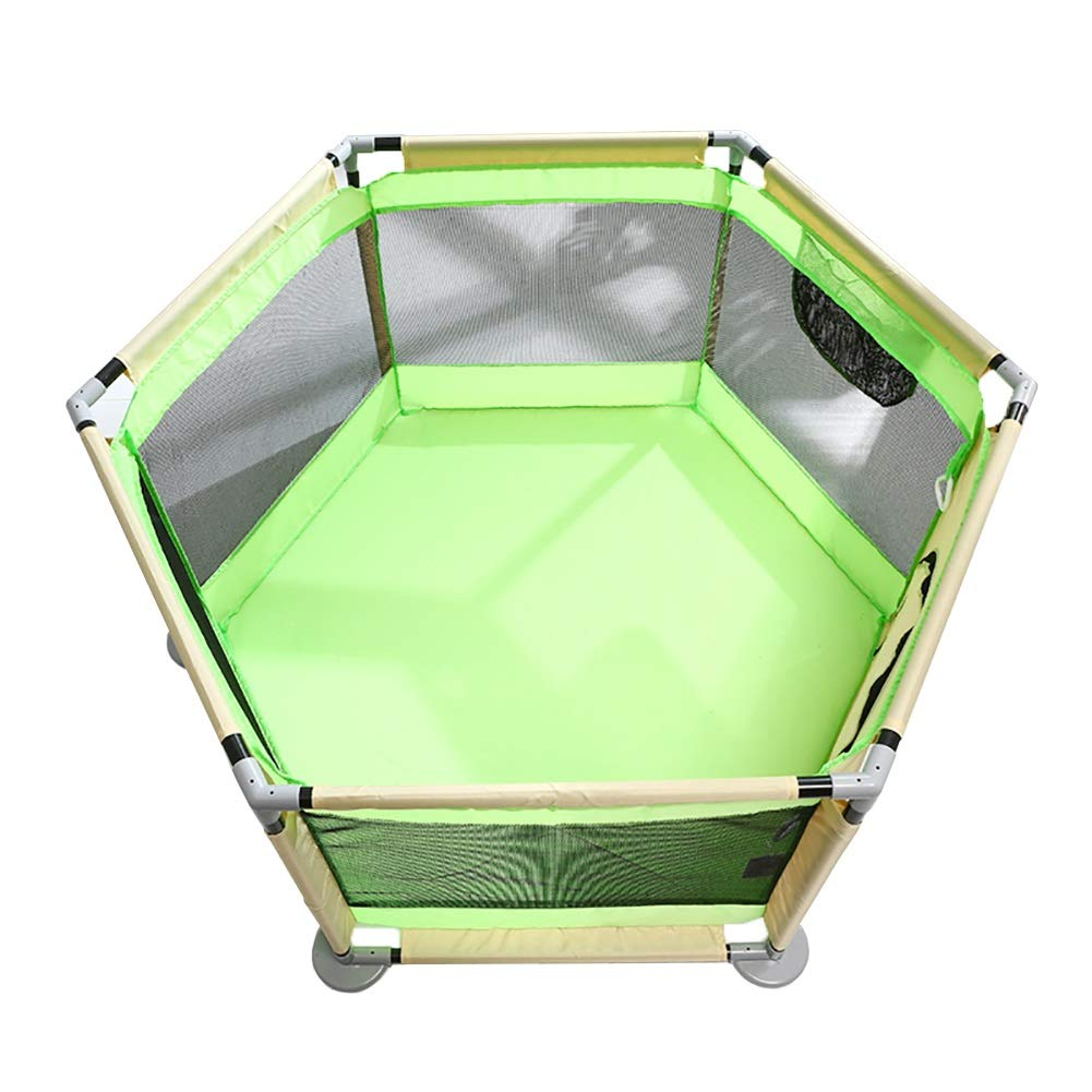 お気に入り ベビーフェンス Playpen Play Yards Oxford Mesh Foldable 6パネルゲームフェンスベイビーセーフティプレイフェンスキッズアクティビティセンター (色 Mesh (色 : : Green) Green B07HVQYLJ7, MODE KAORU:b9da4269 --- a0267596.xsph.ru