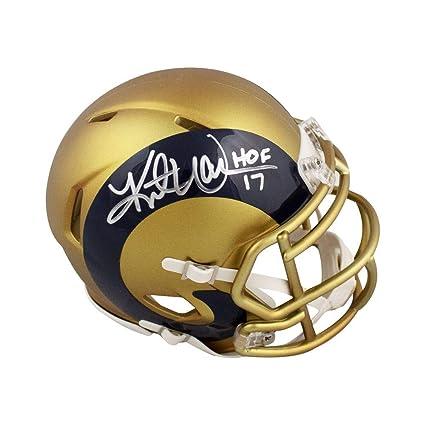 sports shoes f5721 4820d Amazon.com: Kurt Warner HOF 17 Autographed St Louis Rams ...