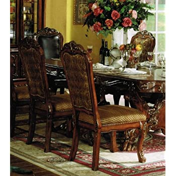 This Item ACME Dresden Side Chair Cherry Oak Finish Set Of 2