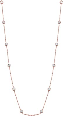 Diamond by the Yard Necklace 925 Sterling Silver  CZ  Gift for her