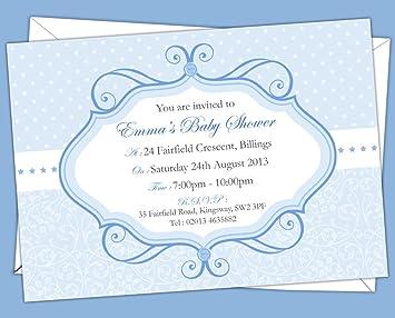 Personalisierte Babyparty Einladungskarten, BSI 14, 12 Stück