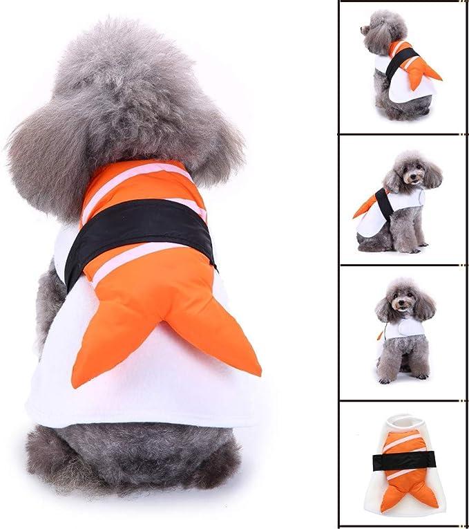 QINCH - Disfraz de Sushi Pet (poliéster), Naranja, pequeño: Amazon ...