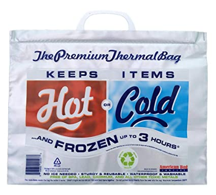 8f3768dbd Amazon.com: Hot Cold Bag | Insulated Thermal Cooler, Lunch Size ...
