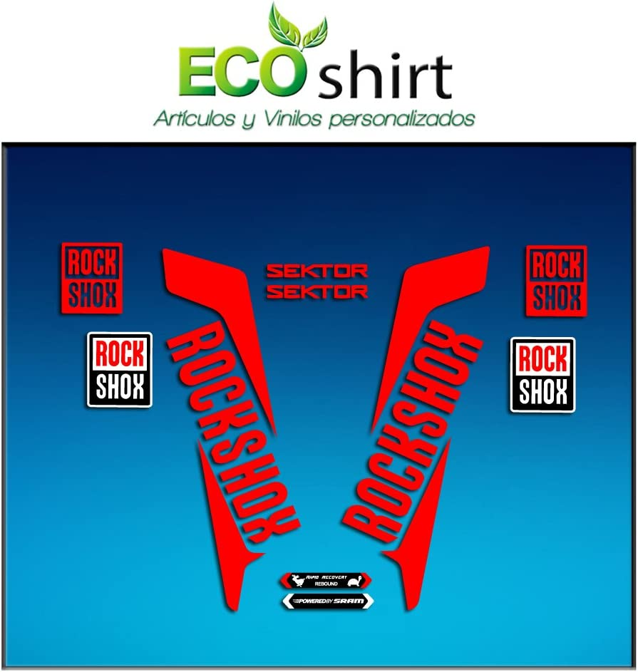 Red 29 Ecoshirt RL-BQJS-1CM8 Fork Stickers Rockshox Sektor 2016 Am35 Stickers Aufkleber Decals Adesivi Bike BTT MTB Cycle