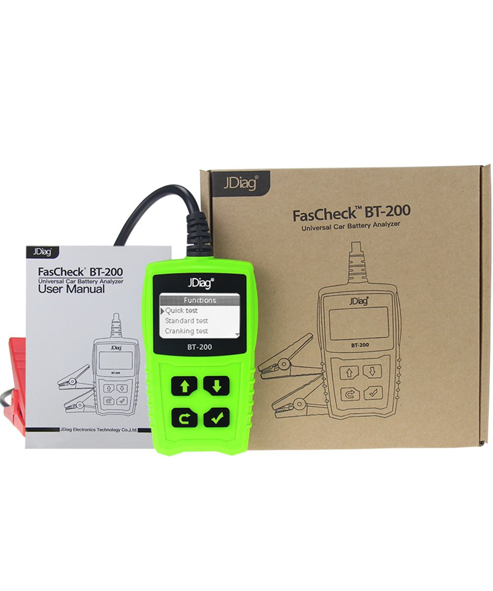 JDiag FasCheck BT-200 Professional Car Load Battery Tester 12V 100-2000 CCA 220AH Digital Battery Analyzer Bad Cell Test Tool for Automotive/Truck/Motorbike Etc(Green) by JDiag (Image #8)