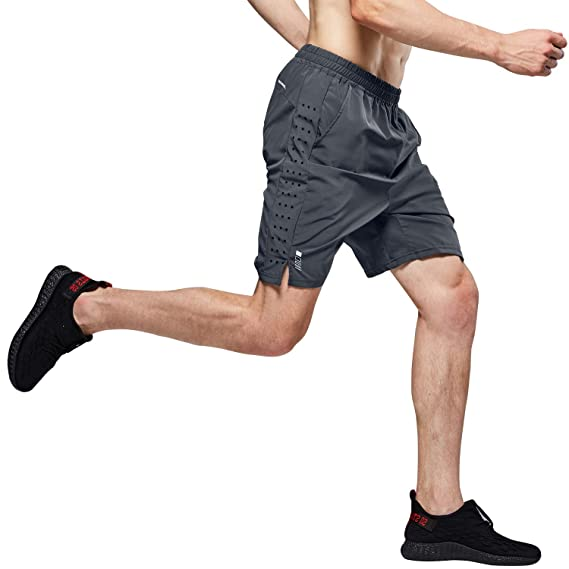 LOHOTEK Pantalones Cortos de Correr de 7 Pulgadas Hombre ...