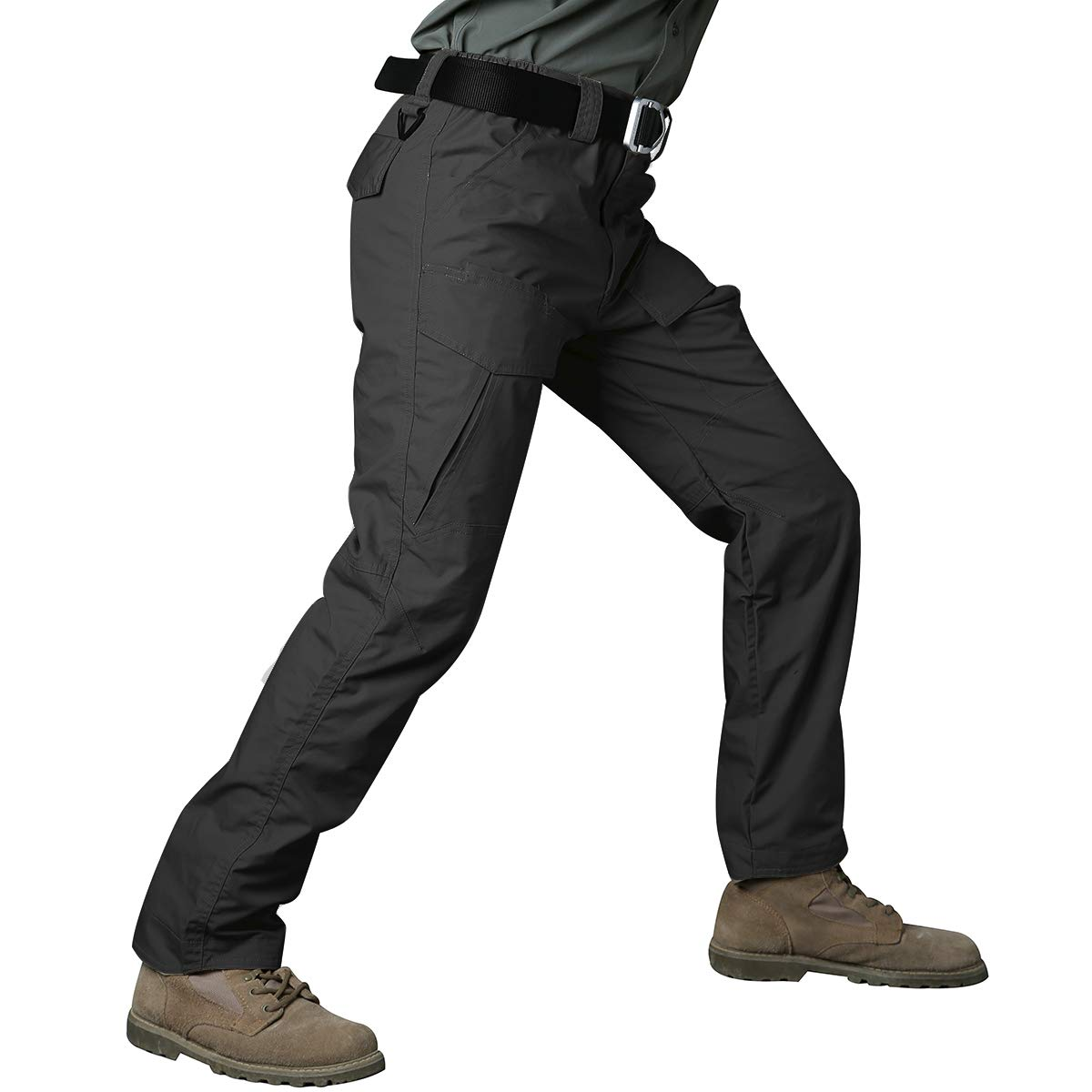 CARWORNIC Gear Mens Tactical Cargo Pants Waterpoof Lightweight Rip Stop EDC Military Combat Trousers