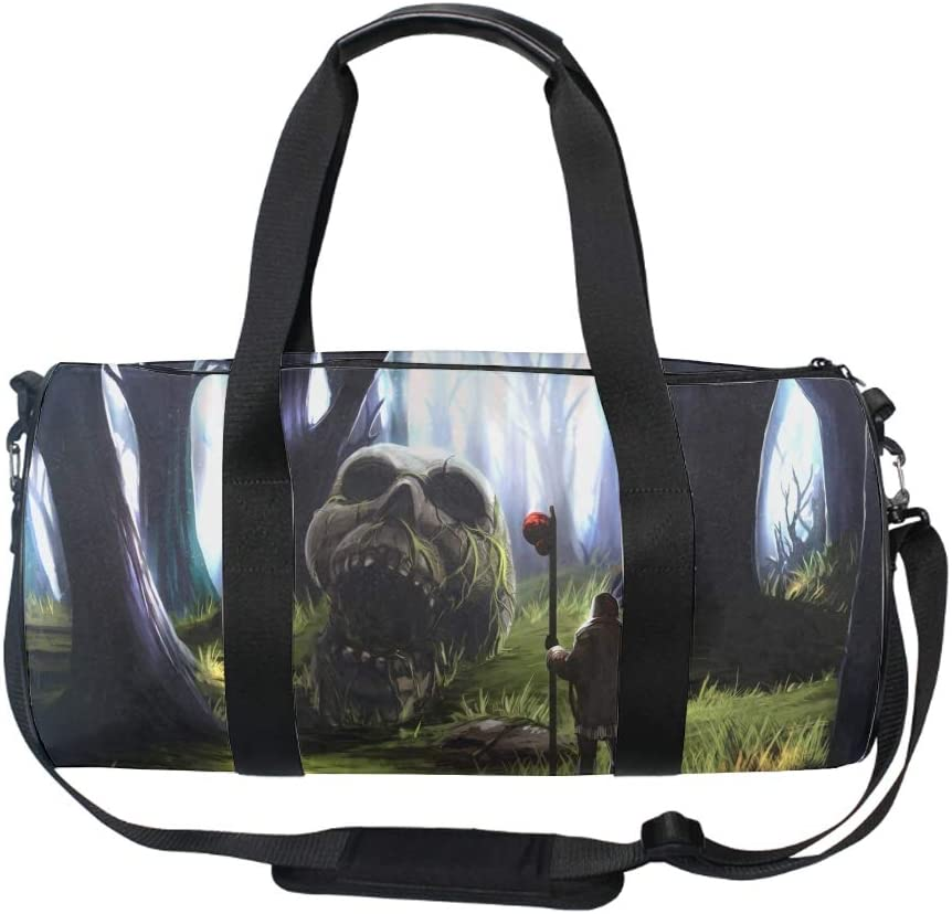 Round Labradoodle Valentines Day Gym Duffle Bag Drum tote Fitness Shoulder Handbag Messenger Bags