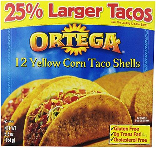 Ortega Taco Shells, Yellow Corn, 12 ct - Corn Taco Shells