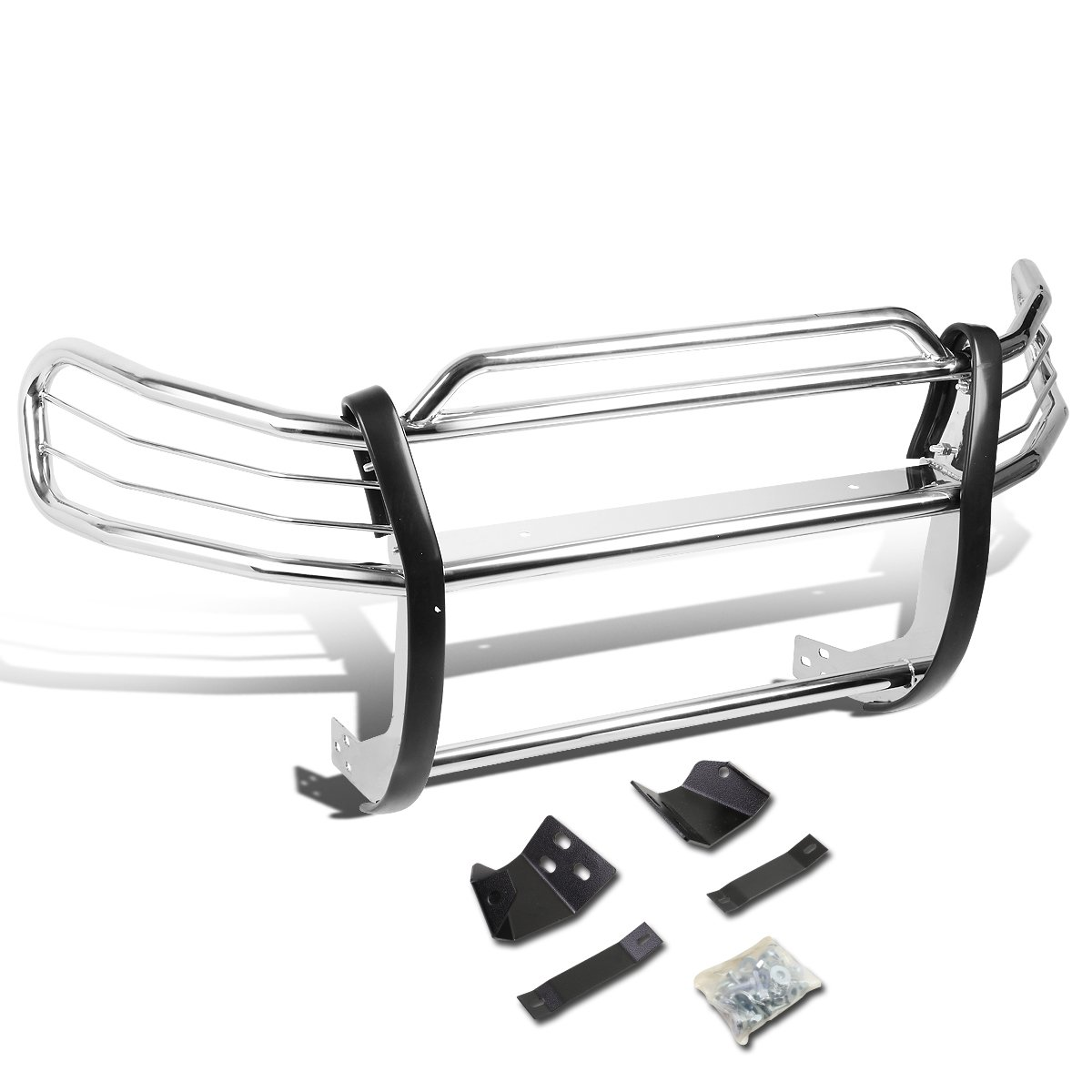 DNA MOTORING Silver GRILL-G-058-SS Front Bumper Brush Grille Guard ...