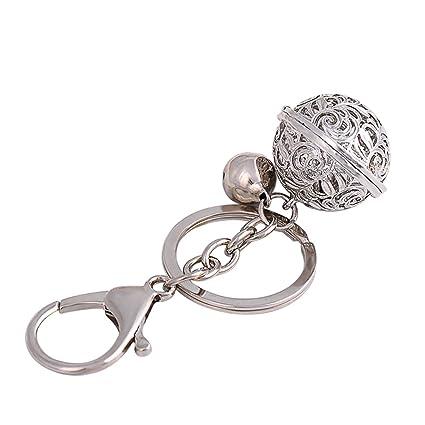 Namgiy Llavero colgante adornos para colgar manualidades decoración regalo para teléfono bolso coche campana, plata, 9X3X2.8CM