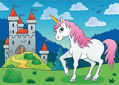 Yongfoto Fondo De Unicornio Para Fotografia Con Diseno De Castillo