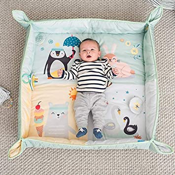 Taf Toys North Pole 4 Seasons Baby Activity Mat with Raised Side Panels for Easier Development and Easier Parenting, Extra Padded, Soft, Cozy Safe Fabric