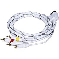 Monoprice Cable AV conglomerado Forrados con Amarillo RCA/S-vídeo y Audio estéreo (Rojo/sobrevuela) para Wii y Wii U - Chaqueta Neta y Oro Laminado en (105691)