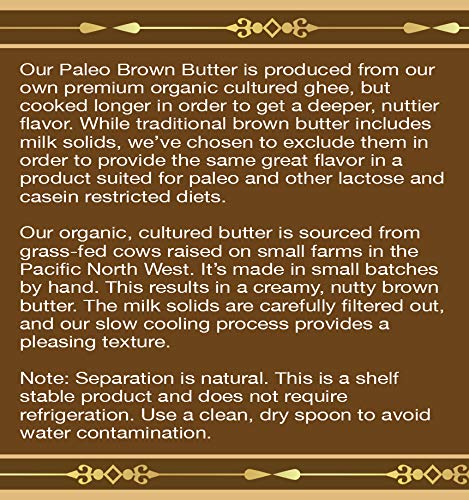 Organic Cultured Brown Butter Ghee, Grass Fed, Casein and Lactose Free (6 fl oz) by Pure Traditions (Image #3)