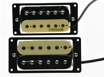 Wilkinson Juego de 2 LIC Zebra Humbucker. – Pastilla para guitarra