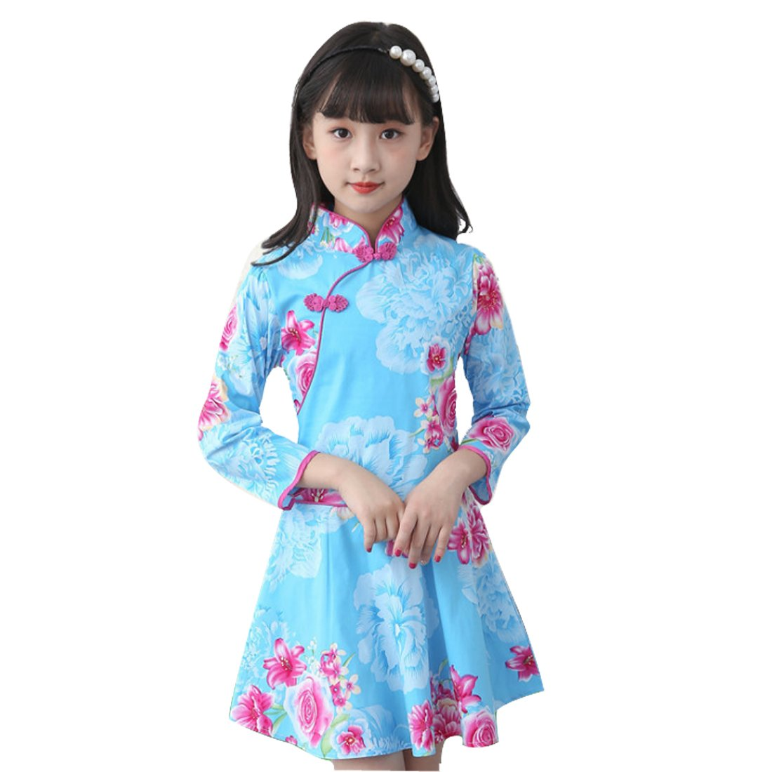 43f201140 Amazon.com  WINZIK Little Baby Girls Kids Outfits China Style Floral ...
