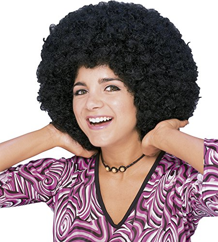 70s Girl (Rubie's Costume Humor Mid Length Afro Black Wig, Black, One Size)