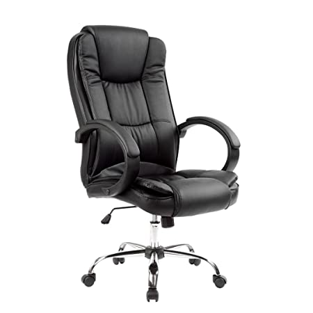 office bucket chair. EXECUTIVE OFFICE CHAIR PADDED LEATHER HIGH BACK CHAIR, GAMING STUDY Office Bucket Chair I