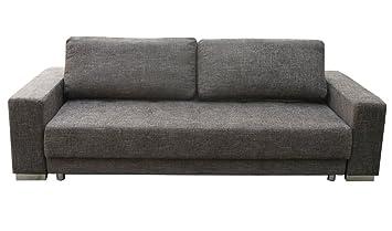 1a 3 Er Schlafsofa Polster Couch Mit Bettfunktion Federkern Braun