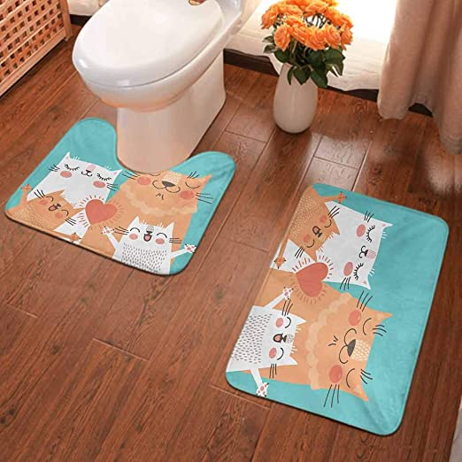 Door Mat Bathroom Rug Bedtoom Carpet Bath Mats Rug Non-Slip White Swan couple
