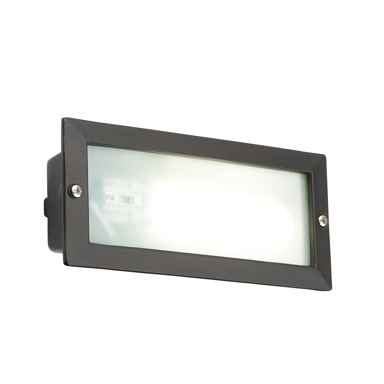 Knightsbridge 9W Bricklight Outdoor Brick Light Black Low Energy Garden Lighting