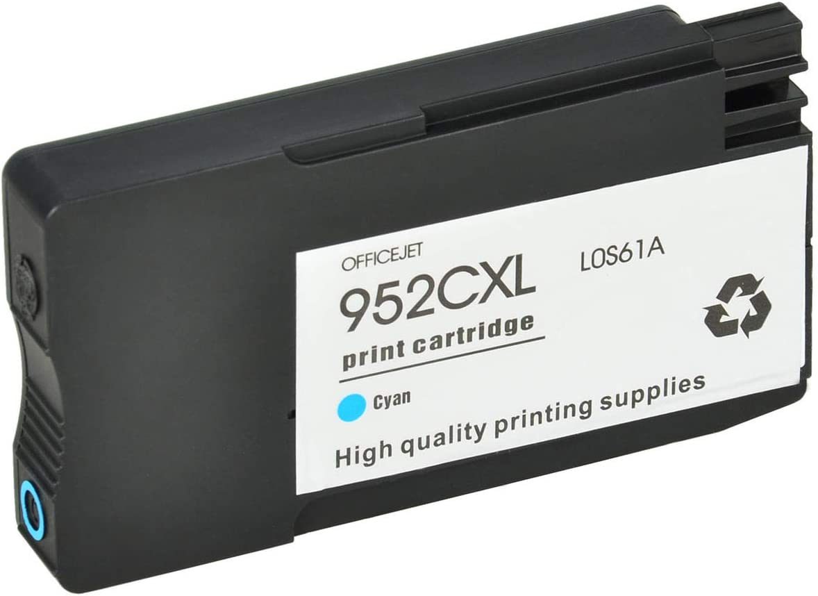 1 Cyan SuperInk High Yield Remanufactured Replacement Ink Cartridge Compatible for HP 952XL 952 LOS61A Officejet Pro 8725 8726 8727 8728 8730 8734 8735 8736 8740 8743 8744 Printer