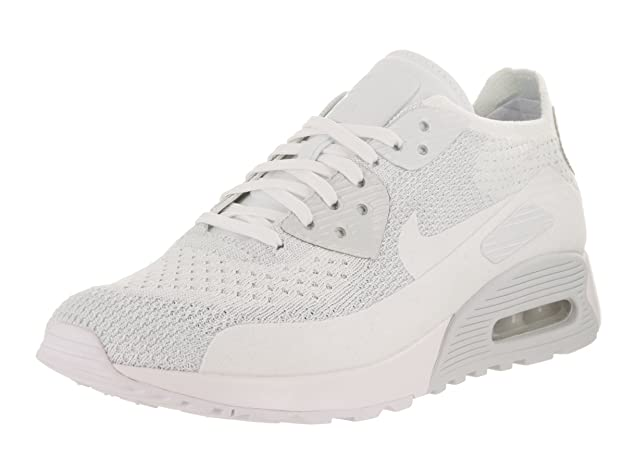 best loved 8045a 34587 Amazon.com   Nike W AIR MAX 90 Ultra 2.0 Flyknit Womens Running-Shoes 881109 -104 9.5 - White White-Pure Platinum   Road Running