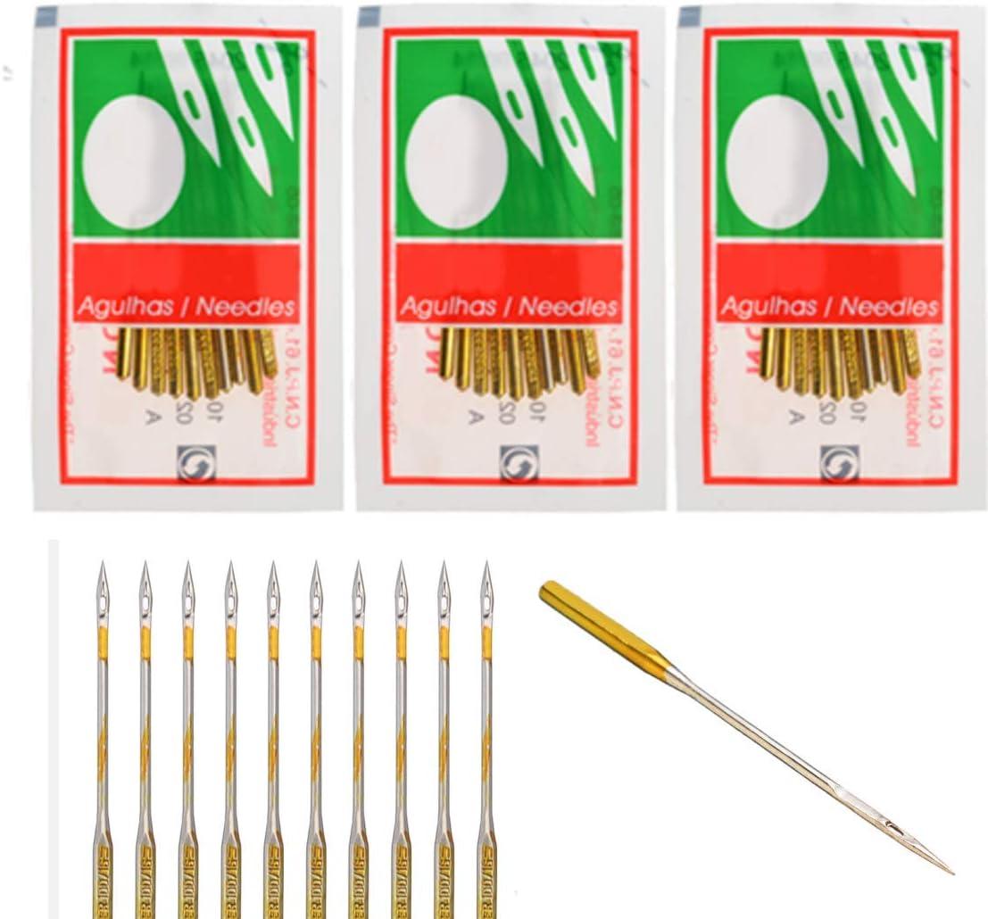 CHENGYIDA 30 agujas de máquina de coser doméstica para Singer ...