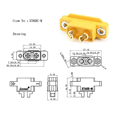 XT60E-M For RC Models Multicopter Fixed Board DIY Spare Remote Control Toy Parts
