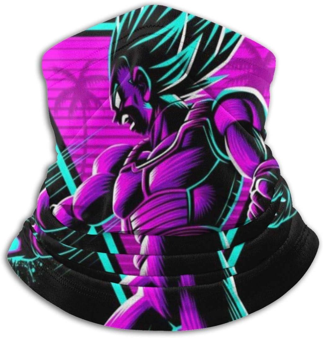Nanobibi Dragon Ball Z Retro Vegeta Attack Unisex Microfibra Cuello Calentador Mas-k Pa/ñuelos al aire libre Multifuncional Bufanda Cuello Polaina Pasamonta/ñas