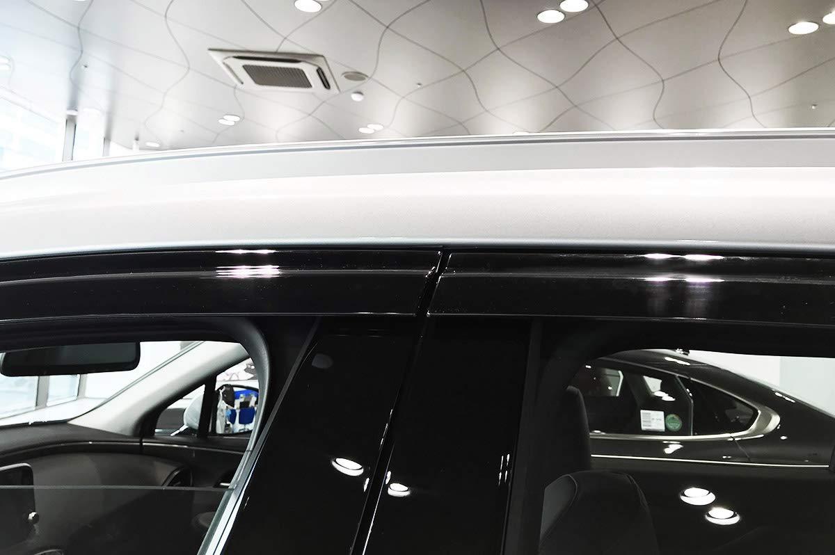 AUTOCLOVER Smoked Black Side Window Wind Deflectors Visor Rain Guards 6p for 2019 Hyundai Santa Fe 5 Seater