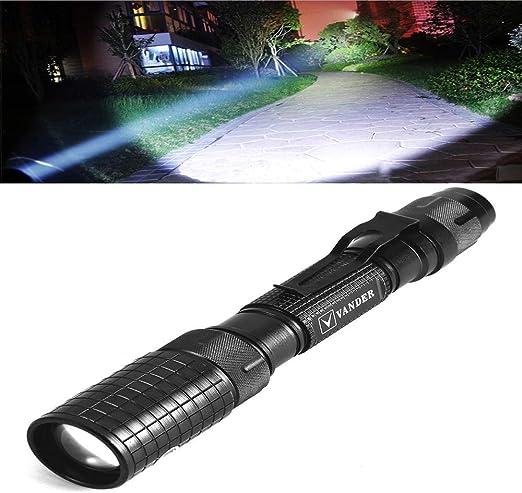 Le réglage Focus DEL Torche Super Bright Zoomable DEL Lampe de Poche Piles dans