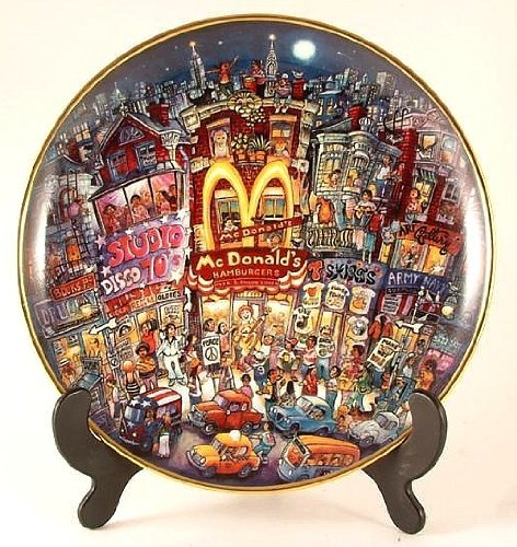 McDonald's Franklin Mint Bill Bell plate - Golden Moments - CP957 (Franklin Mint Bill Bell Plate)