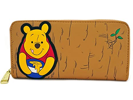 80063684bd Loungefly Winnie the Pooh Faux Leather Zip Wallet Standard