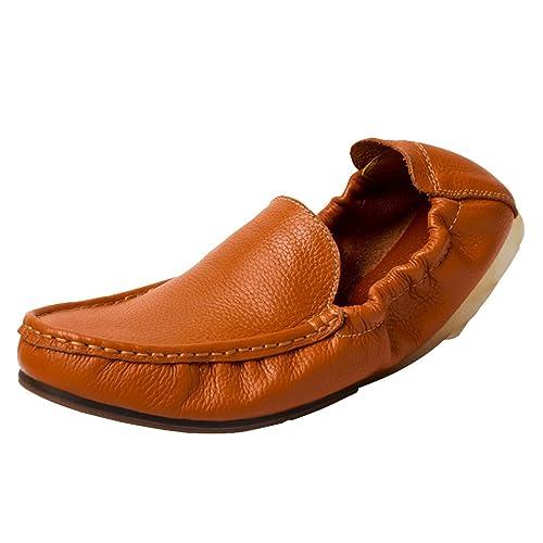 Goorape 6922906217853 - Mocasines de Piel Para Hombre, Color Marrón, Talla 43 EU M Hombre: Amazon.es: Zapatos y complementos