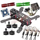QAV250 Quadcopter Kit Full Carbon Frame Kit+Emax MT2204 Brushless Motor +Emax Simonk 12A ESC + CC3D Flight Controller+5045 Props