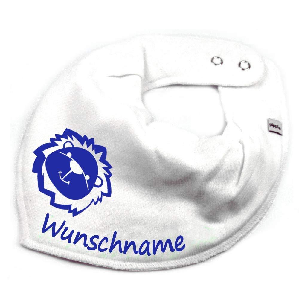 Elefantasie Halstuch L/öwe mit Namen oder Text personalisiert Khaki f/ür Baby oder Kind