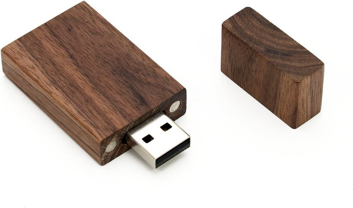 SameDayFlash 4GB USB 2.0 Flash Drive 10 PCS Bulk Wooden Walnut Grove Design