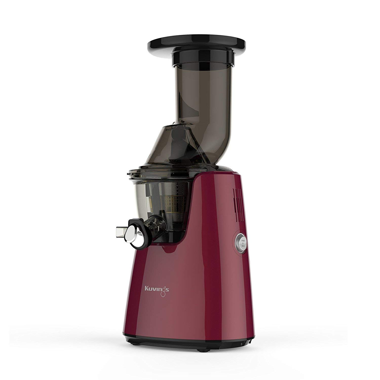 Kuvings Whole Slow Juicer C7000P - Higher Nutrients and Vitamins, BPA-Free Components, Easy to Clean, Ultra Efficient 240W, 60RPMs, Includes Smoothie and Blank Strainer-Red