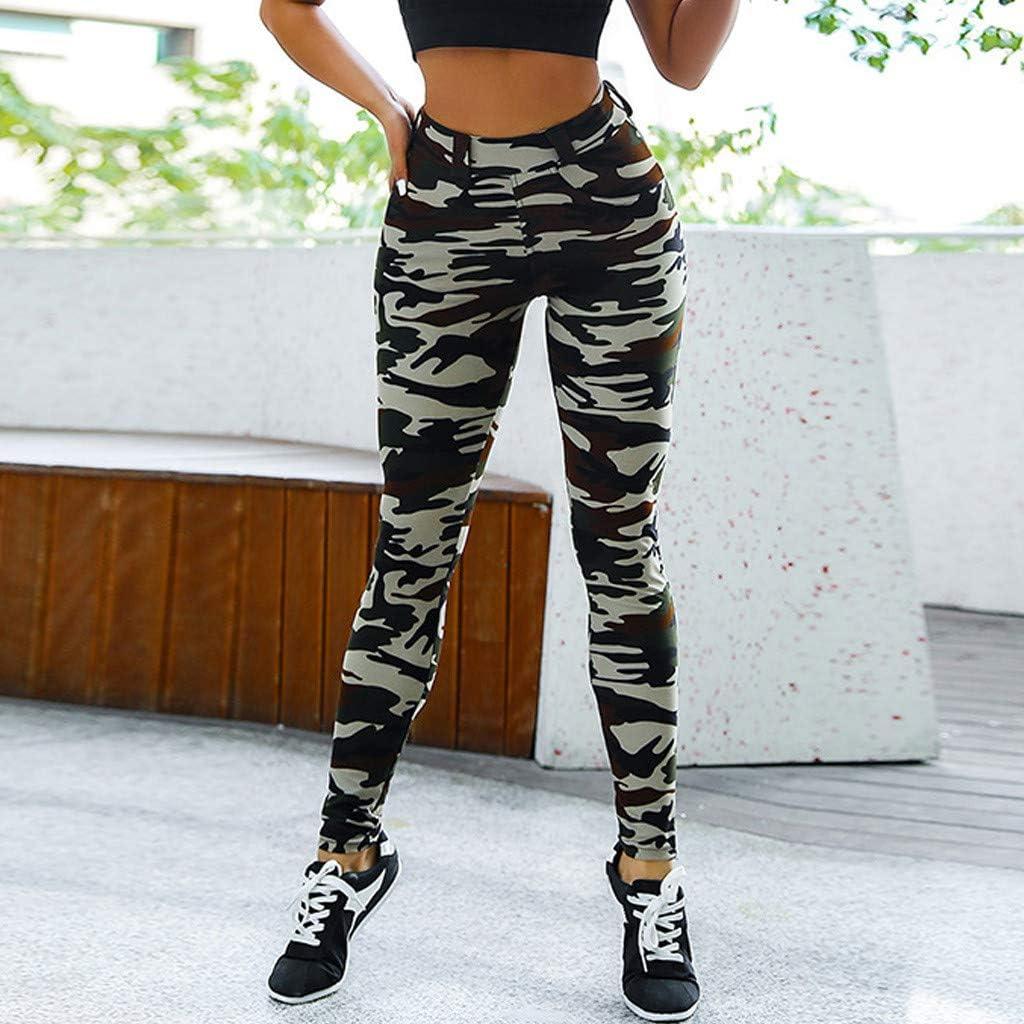 PlayMate Leggings Womens Exercise Fitness Gym Workout Running Yoga Shorts Camouflage High Waist Stretch Shapewear