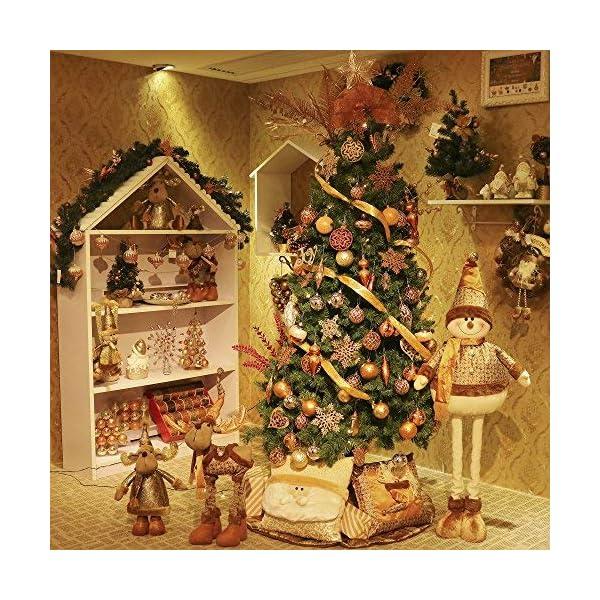 Valery Madelyn Palle di Natale 49 Pezzi 3 cm Addobbi Natalizi per Albero, Rame da Bosco e Oro Infrangibile Ornamenti Palla di Natale Decorazione per Albero di Natale Decor 7 spesavip