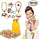 500 Pcs Arty Snap Pop Beads Set with Storage Bag, XFee Creative DIY Jewelry Kit for Headwear Necklace Earrings Bracelets Rings , Idea Birthday & Holiday Gifts Toys for Kids Toddlers Girls