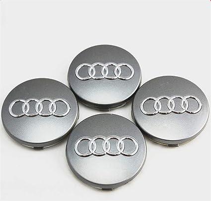 LILFEE. - Tapacubos de 4 x 60 mm para Llantas de Audi con Logotipo de los emblemas