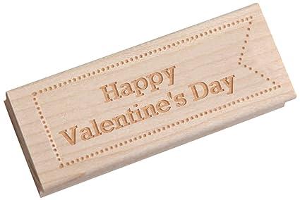 Vestido mi Cupcake Vintage Sello de Madera, Feliz día de San Valentín, máquina de