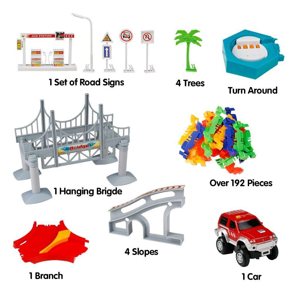 Pista Macchine con Pista Auto Giocattolo Pista Costruzioni 3+ (Consegna Casuale)