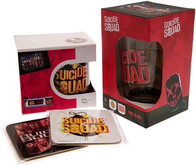 Escuadrón Suicida - Pack oficial para regalo (Talla Única) (Multicolor): Amazon.es: Ropa y accesorios