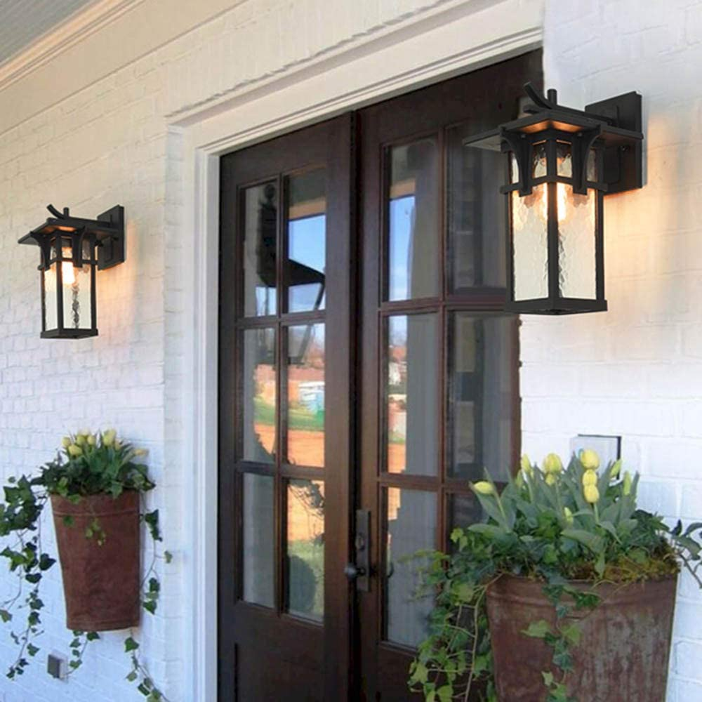 Retro Exterior Pared Luz Impermeable Aplique Exterior Interior ...