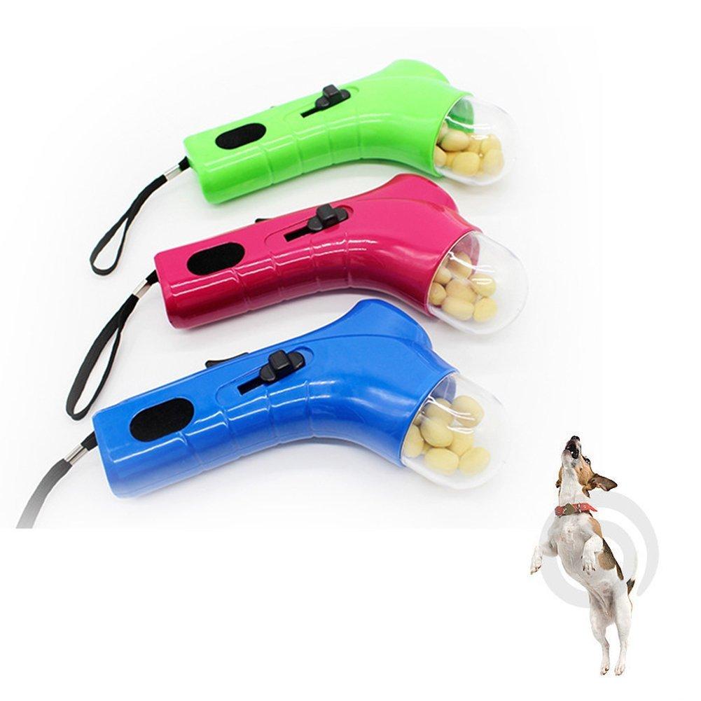 OWIKAR Pet Dog Training Food Launcher Feeder Interactive Dog Food Catapult Funny Pets Snacks Feeder Toys (Green)